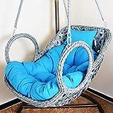 DULPLAY Hängesessel Swing,Für Indoor Outdoor Home Terrasse Deck Garten, Lesen Freizeit Anti-Rutsch Seat Dämpfung