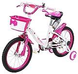 Actionbikes Kinderfahrrad Daisy - 16 Zoll – V-Break Bremse vorne - Stützräder - Luftbereifung - Ab 4-7 Jahren - Jungen & Mädchen – Kinder Fahrrad – Laufrad - BMX – Kinderrad (16`Zoll)