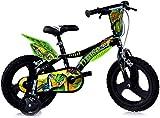 Dinosaurier Kinderfahrrad Dino- Trex Jungenfahrrad   TÜV geprüft   Original   Kinderrad mit Stützrädern - Das Fahrrad als Geschenk für Jungen (14, Zoll)