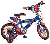 Toims 874 Spiderman Kinderfahrrad Mixed Bike Toims, 3/5 jahre-14', blau